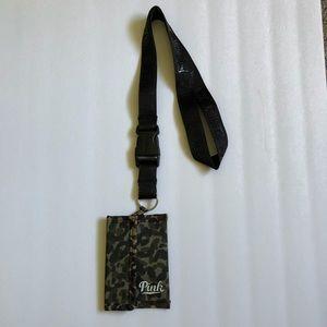 $20 New VS PINK Camo ID Holder